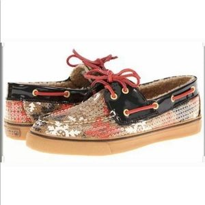 SPERRY Boat Shoes Bahama Snowflake Sequin